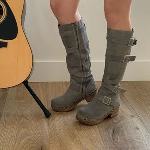 Shoes - Clog tall boots
